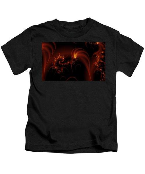 Floating Fire Fractal Kids T-Shirt