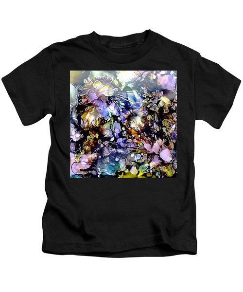 Floral Summer Celebration Alcohol Inks Kids T-Shirt