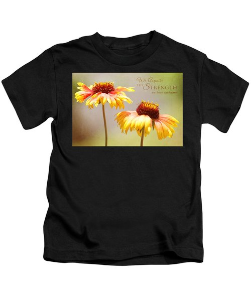 Floral Sunshine With Message Kids T-Shirt