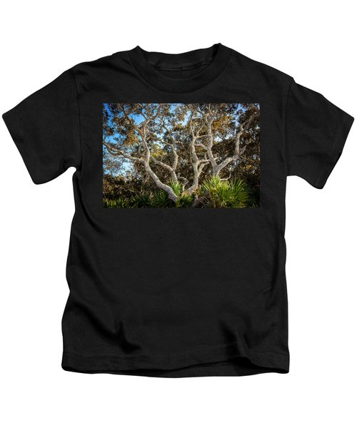 Florida Scrub Oaks Painted   Kids T-Shirt
