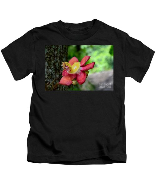 Flower Of Cannonball Tree Singapore Kids T-Shirt