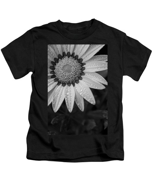 Flower Water Droplets Kids T-Shirt