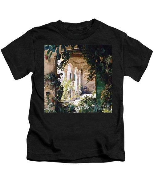 Flowery Majorquin  Patio In Valdemosa Kids T-Shirt
