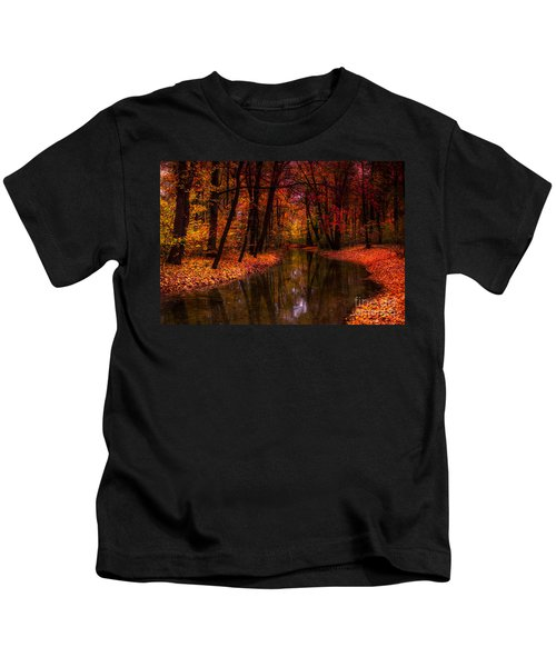Flowing Through The Colors Of Fall Kids T-Shirt