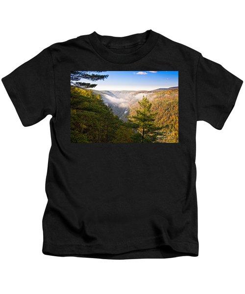 Fog Over The Canyon Kids T-Shirt