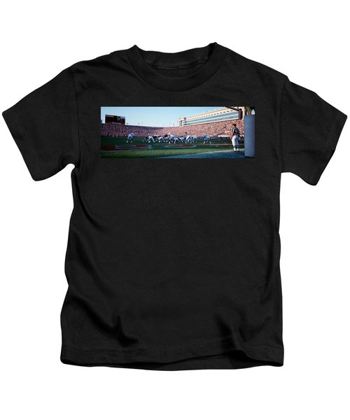 Football Game, Soldier Field, Chicago Kids T-Shirt by Panoramic Images