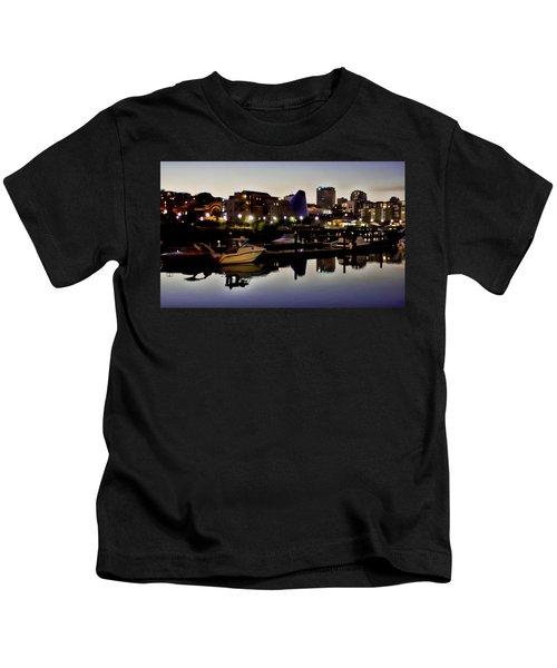 Foss Waterway At Night Kids T-Shirt