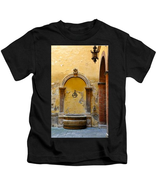 Fountain In Sienna Kids T-Shirt