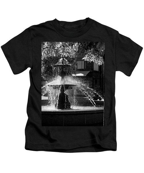 Fountain On Place Toulzac / Brive La Gaillarde Kids T-Shirt