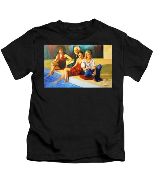 Four At A  Pool Kids T-Shirt