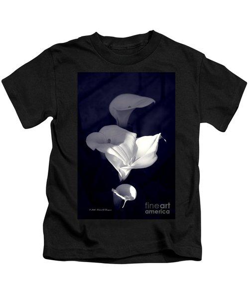 Four Calla Lilies In Shade Kids T-Shirt
