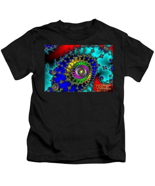 Fractal Fantasia Opus 1 No 3 Kids T-Shirt