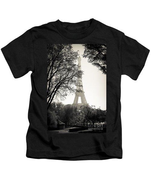 The Eiffel Tower Paris France Kids T-Shirt