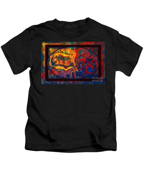 Friendship And Love Abstract Healing Art Kids T-Shirt