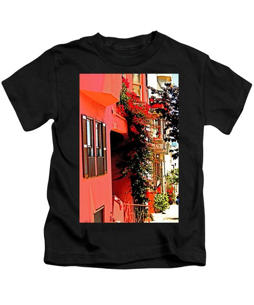 Frisco Street Flowers Kids T-Shirt