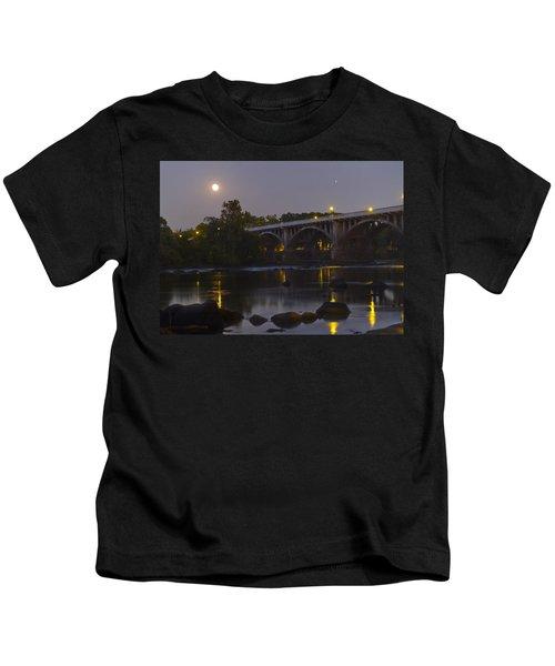 Full Moon And Jupiter-1 Kids T-Shirt
