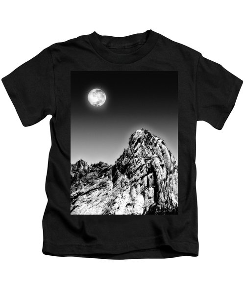 Full Moon Over The Suicide Rock Kids T-Shirt
