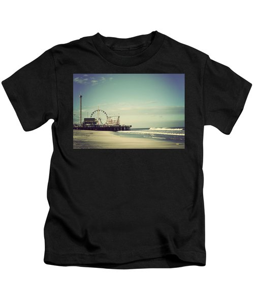 Funtown Pier Seaside Heights New Jersey Vintage Kids T-Shirt