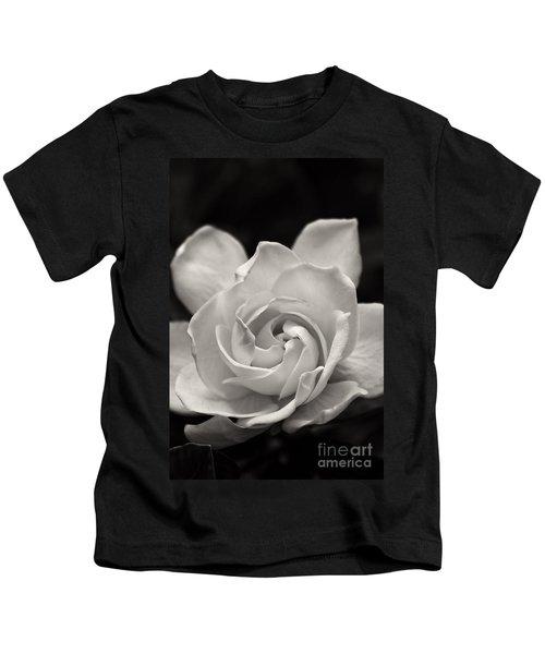 Gardenia Bloom In Sepia Kids T-Shirt