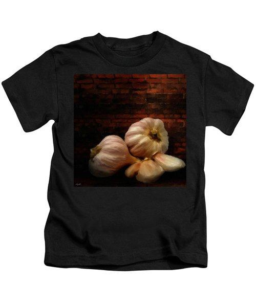 Garlic Kids T-Shirt by Lourry Legarde