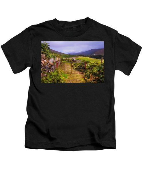 Gates On The Road. Wicklow Hills. Ireland Kids T-Shirt