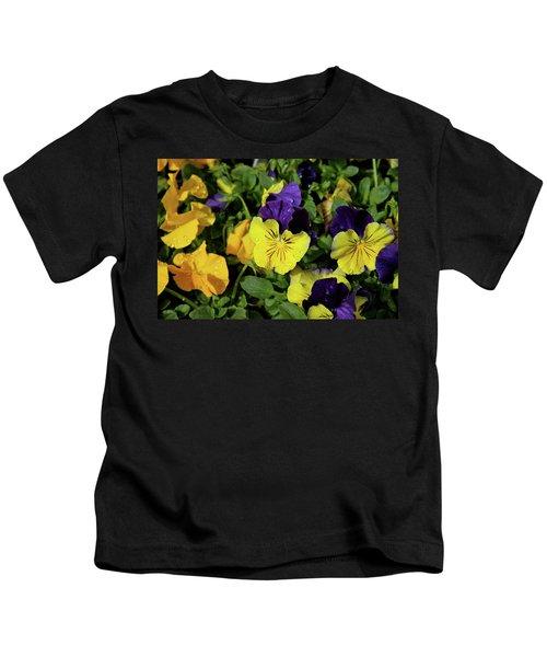 Giant Garden Pansies Kids T-Shirt