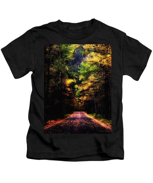Glacier Fall Road Kids T-Shirt