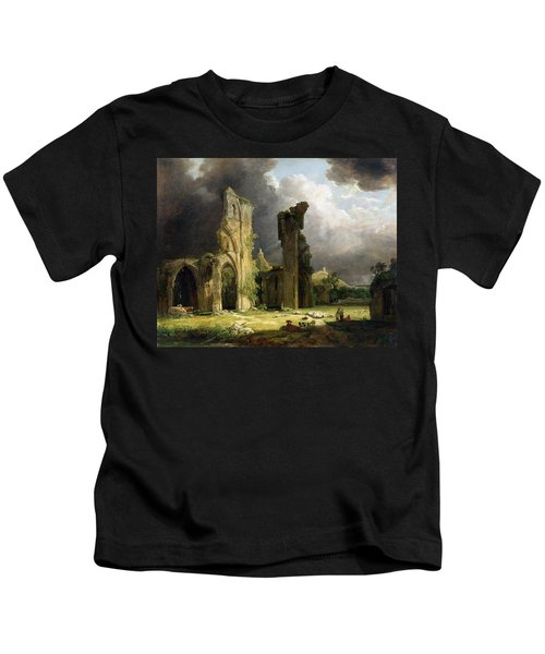 Glastonbury Abbey With The Tor Kids T-Shirt