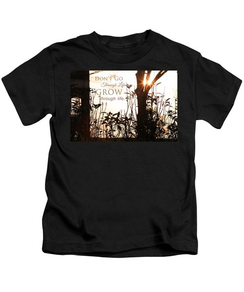 Glowing Landscape With Message Kids T-Shirt