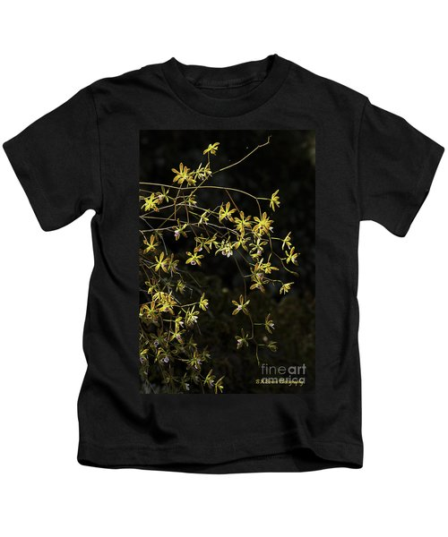 Glowing Orchids Kids T-Shirt
