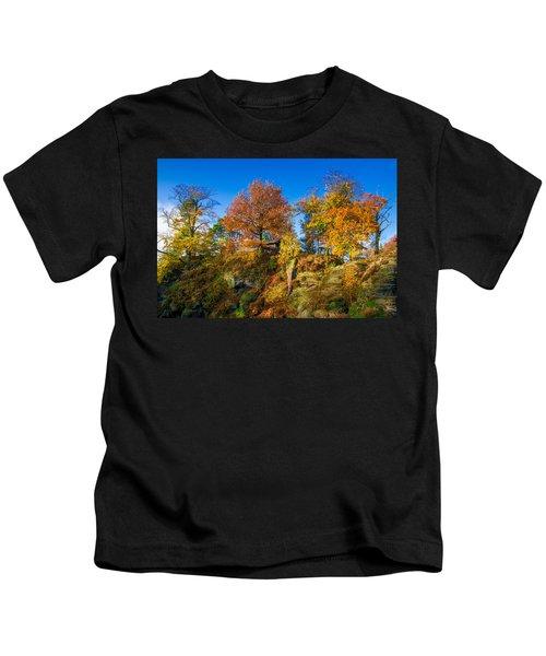 Golden Autumn On Neurathen Castle Kids T-Shirt