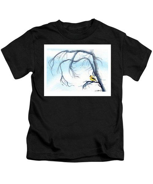 Goldfinch In Tree Kids T-Shirt