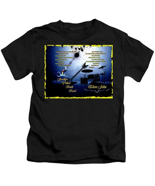 Goodbye Yellow Brick Road Kids T-Shirt by Michael Damiani