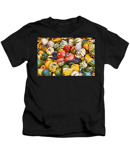 Gourds And Pumpkins At The Farmers Market Kids T-Shirt