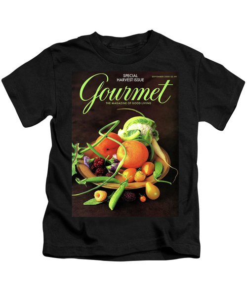 Gourmet Cover Featuring A Variety Of Fruit Kids T-Shirt
