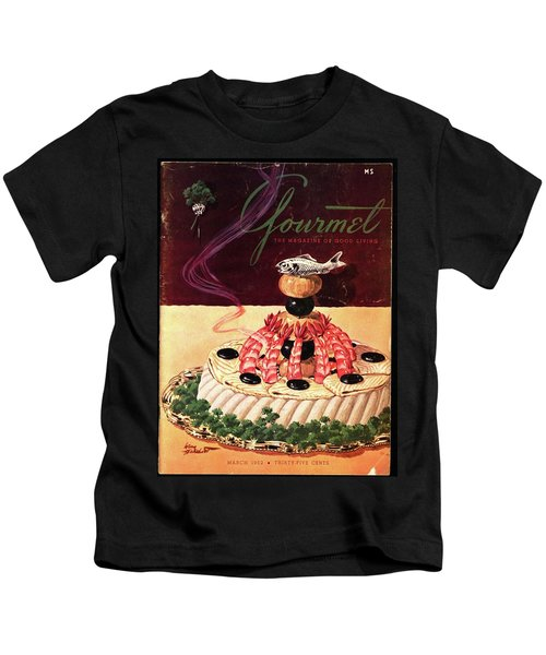 Gourmet Cover Illustration Of A Filet Of Sole Kids T-Shirt