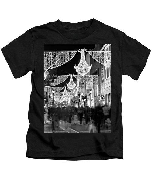Grafton Street At Christmas / Dublin Kids T-Shirt