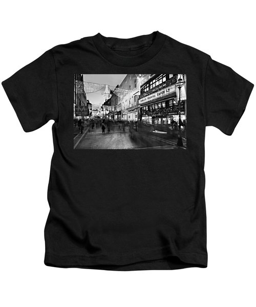 Grafton Street At Night / Dublin Kids T-Shirt
