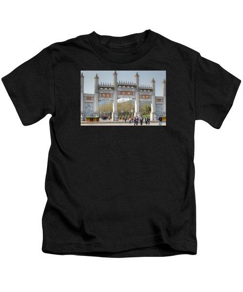 Grand Buddha Gates Kids T-Shirt