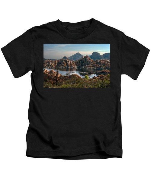 Granite Dells At Watson Lake Kids T-Shirt