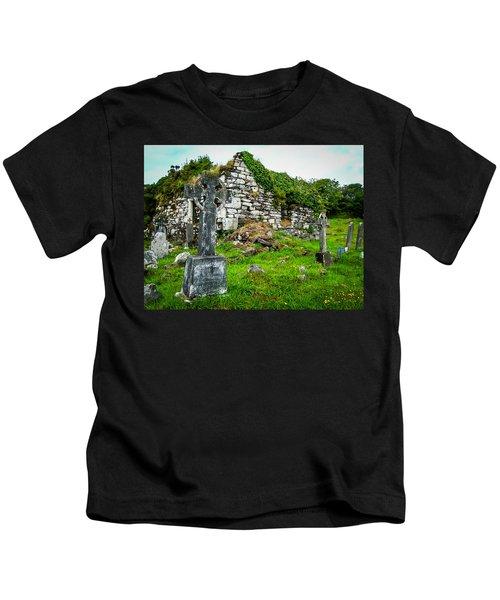 Graveyard And Church Ruins On Ireland's Mizen Peninsula Kids T-Shirt