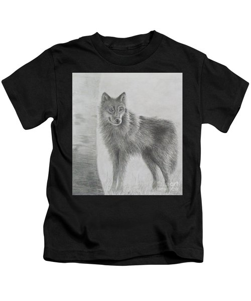 Gray Wolf Kids T-Shirt