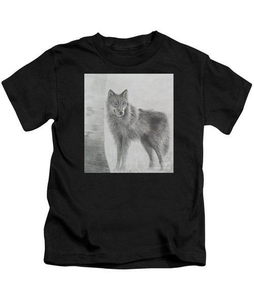 Gray Wolf Kids T-Shirt