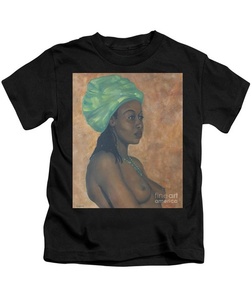 Green Headwrap Kids T-Shirt
