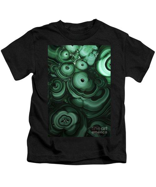 Green Patterns Of Malachite Kids T-Shirt