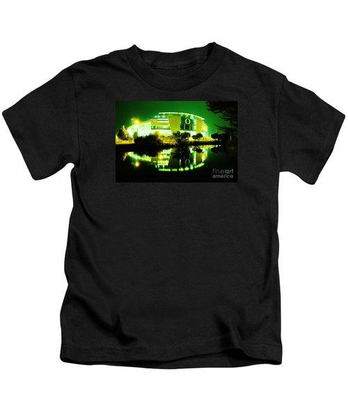 Green Power- Autzen At Night Kids T-Shirt