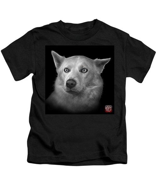 Greyscale Mila - Siberian Husky - 2103 - Bb Kids T-Shirt