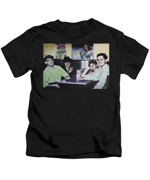 Hanging At The Diner 1949 Kids T-Shirt