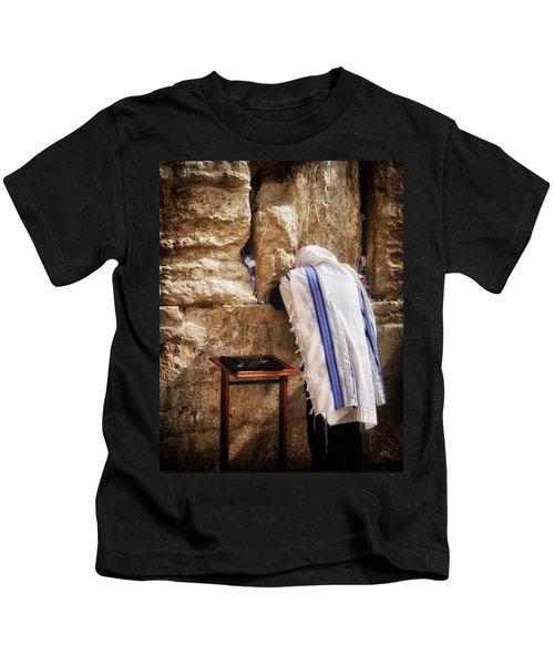 Harken Unto My Prayer O Lord Western Wall Jerusalem Kids T-Shirt