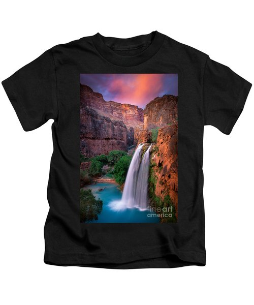 Havasu Falls Kids T-Shirt by Inge Johnsson